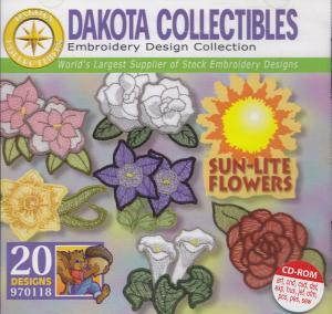 Dakota Collectibles 970118 Sun Lite Flowers Embroidery Designs Multi-Formatted CD