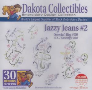 Dakota Collectibles 970396 Jazzy Jeans 5X7 Sewing Big 36 Designs CD
