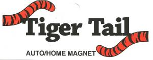 Tiger Tail Magnetic Auto Bumper Sticker or Refrigerator Magnet, for Sports Team Fans, and LSU Bengals in AllBrands Hometown of Baton Rouge Louisiana