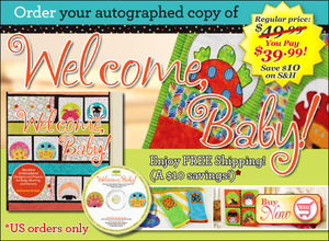 DIME Welcome Baby Book and Embroidery Design CD with 9 Projects by Katherine Artines