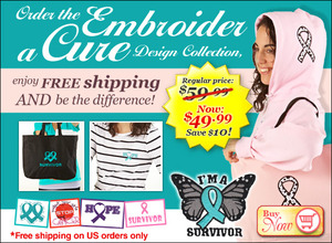 Designs in Machine Embroidery Embroider A Cure 20 Designs Collection Benefiting the Be The Difference Foundation.org