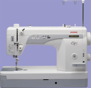 "Janome, 1600P QC, 1600P-QC, 1600pqc,  Sewing, Quilting, Machine, 9"" Arm, Threader,  trimmer, , 1/2"" Foot Lift, 11Lb  Pressure, Knee Lever, Needle Up Down, 1600 SPM, Speed Limit, Control,  25/10 Yr Wnty, 9"" x 6"" Work Area, Knee Lift, 800-1600 spm"