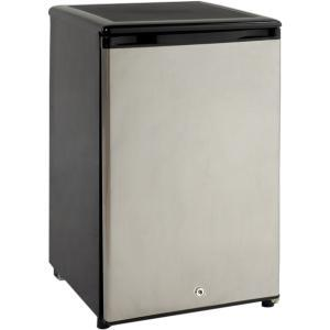 "Avanti SHP1712SDCIS Freestanding Refrigerator, 1.7cu.ft³, 20Hx17Wx19""D, AutoDefrost, Reverse Door, Storage/Tray, 12vDC 110vAC, BLACK & Stainless, 26Lb"