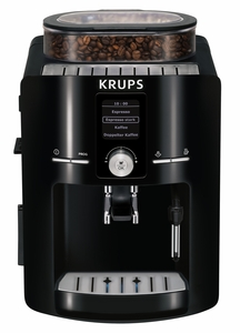 Krups EA8250001 Espresseria Full Automatic Espresso Machine with XS6000 Liquid Cleaner, Piano Black, 1.8 Liter Tank