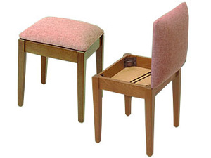 3749: Stump 1500 Home EKHD School Sewing Chair Stool Solid Ash Walnut Finish