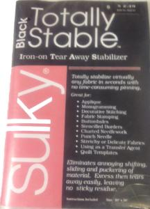"Sulky 662-01 Totally Stable Iron-on Tear Away Embroidery Stabilizer Backing Black, 20"" x 1 Yard Sheet"