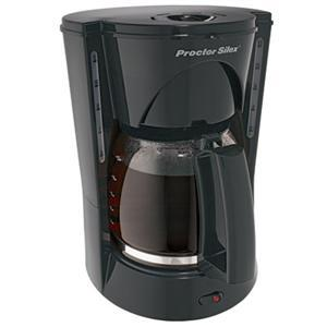 Proctor-Silex® 48524RY - 12 Cup Coffeemaker Black, Auto Pause and Serve, Brew Strength Selector,Lighted On Switch,Dual Water Windows,Permanent Filter