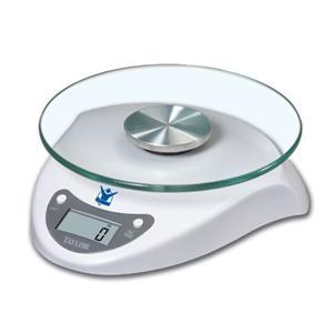 Taylor 3831BL Biggest Loser - 6.5lb. Digital Food Scale with Glass Top, Lithium Battery Powered, Gram, Pound, Kilogram, Ounce