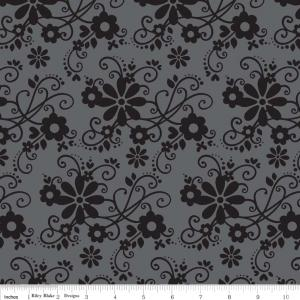 "Riley Blake Designs 15Yd Bolt 7.34 A Yd C2690 GrayTuxedo  Main100% Cotton  45""Fabric"