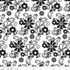 "Riley Blake Designs 15Yd Bolt 7.34 A Yd C2690 White  Main100% Cotton  45""Fabric"