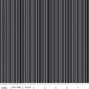 "Riley Blake Designs 15Yd Bolt 7.34 A Yd C2691 Black Tuxedo Stripe100% Cotton  45""Fabric"