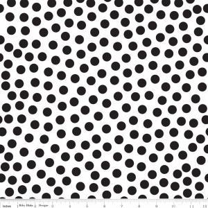 "Riley Blake Designs 15Yd Bolt 7.34 A Yd C2692 White Tuxedo Dot 100% Cotton  45""Fabric"