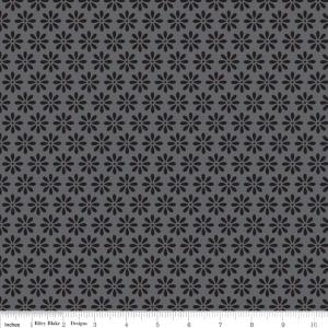 "Riley Blake Designs 15Yd Bolt 7.34 A Yd C2694 Gray Tuxedo Daisy 100% Cotton  45""Fabric"