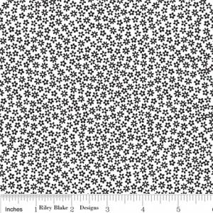 "Riley Blake Designs 15Yd Bolt 7.34 A Yd C2695 White Tuxedo Scatter 100% Cotton  45""Fabric"