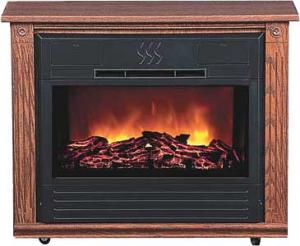 Heat Surge HS-RG2 Amish Crafted Roll-n-Glow Electric Space Heater Fireplace (Dark Oak), 4606 BTU's, Fireless Flame, 1500 Watts, 325 sq. ft. Coverage