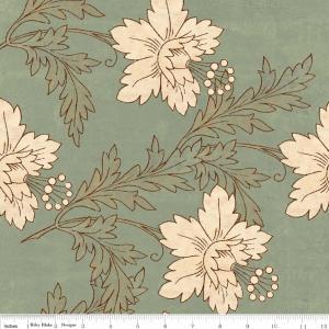 "Riley Blake Designs C2710 Green Grandma's House  Main 15Yd Bolt 7.34 A Yd  100% Cotton  45"" Fabric"