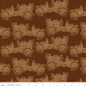 "Riley Blake Designs C2711 Brown Grandma's House  Car 15Yd Bolt 7.34 A Yd 100% Cotton  45""Fabric"