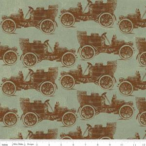 "Riley Blake Designs C2711 Green Grandma's House Car 15Yd Bolt 7.34 A Yd 100% Cotton  45""Fabric"
