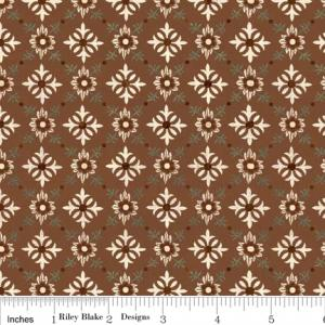 "Riley Blake Designs C2714 Brown Grandma's House Trellis 15Yd Bolt 7.34 A Yd 100% Cotton  45""Fabric"