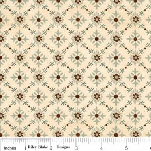 """Riley Blake Designs C2714 Cream Grandma's House Trellis 15Yd Bolt 7.34 A Yd 100% Cotton  45""""Fabric"""