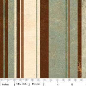 "Riley Blake Designs C2715 Cream Grandma's House Stripe 15Yd Bolt 7.34 A Yd 100% Cotton  45""Fabric"