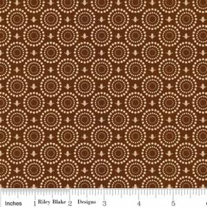 "Riley Blake Designs C2716 Brown Grandma's House Gate 15Yd Bolt 7.34 A Yd 100% Cotton  45""Fabric"