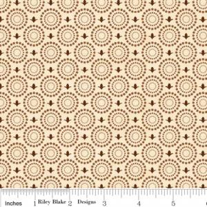 "Riley Blake Designs C2716 Cream Grandma's House Gate 15Yd Bolt 7.34 A Yd 100% Cotton  45""Fabric"