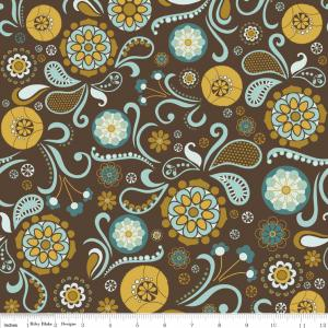 "Riley Blake Designs C2700 Brown So Sophie Main 15Yd Bolt 7.34 A Yd 100% Cotton 45""Fabric"