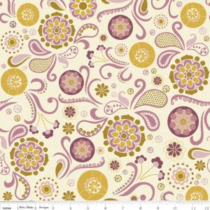 "Riley Blake Designs C2700 Cream So Sophie Main 15Yd Bolt 7.34 A Yd 100% Cotton 45""Fabric"