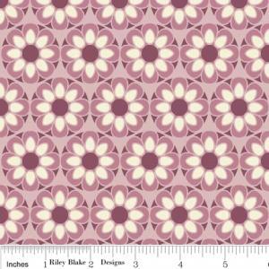 """Riley Blake DesignsC2701 Purple So Sophie Petal 15Yd Bolt 7.34 A Yd 100% Cotton 45""""Fabric"""