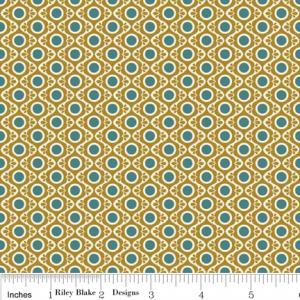 "Riley Blake Designs C2702-Gold So Sophie Tapestry 15Yd Bolt 7.34 A Yd 100% Cotton 45""Fabric"
