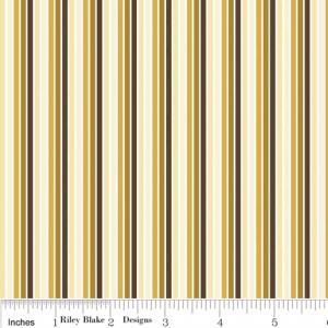 """Riley Blake Designs C2705 Gold So Sophie Stripe 15Yd Bolt 7.34 A Yd 100% Cotton 45""""Fabric"""