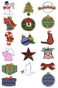 Down Home Dreams 170 Christmas Applique Embroidery Designs Floppy Disk