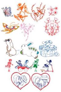 Down Home Dreams 176 Spring & Easter Sketches Embroidery Designs Floppy Disk