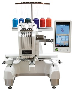 "Brother PR650E RB 6 Needle 12"" Embroidery Machine, Roller Stand, Cap Equipment, 15 Extras Including Great Notions 15000 Designs DVD, Brother PR650E Store Demo, 6 Needle 8x12"" Embroidery Machine, Metal Roller Stand, Cap Equipment, 5 Hoops, 68 Fonts, 3USB Ports, Replaced by PR650E"
