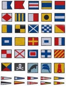Down Home Dreams 185 Nautical Flags Embroidery Disk