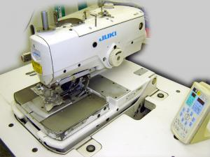Juki MEB 3200S Jacket Keyhole Eyelet Buttonhole, Industrial Top&Bottom Thread ChainStitch Sewing Machine, Stand, Panel, Auto Cut, ThreadTrim, FootLift