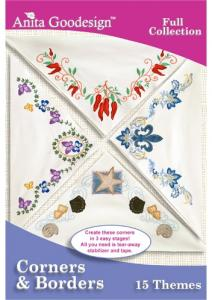 Anita Goodesign 182AGHD Corners And Borders Full Collection Multi-format Embroidery Design Pack on CD