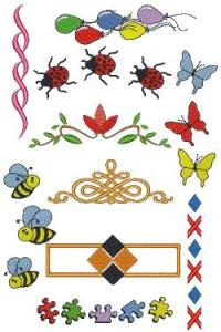 Down Home Dreams 302 Borders Embroidery Designs Floppy Disk