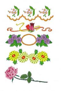 Down Home Dreams 304 Big Flowers Embroidery Designs Floppy Disk