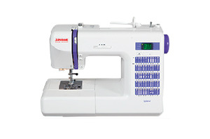 Janome, Decor, 0 Stitch, Computer, Sewing Machine,  1 step BH, Memory, Needle Up, Down, Speed Limit, Threader, 1/4 inch, Walking Foot, Case
