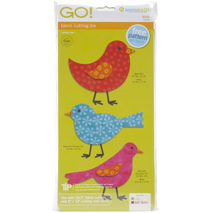 AccuQuilt, GO!, 55324, Bird, 3, birds, 2, Wing, Die, accu, quilt, accurate, board, cutting