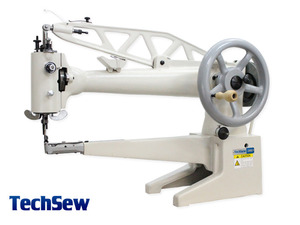 "Techsew 2900L 18""Arm 1.125"" Cylinder Bed Shoe Repair Leather Patch Machine Head Only, Large Bobbin"
