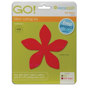 "AccuQuilt GO! 55334 Fun Flower Die 4 1/2""W x 4 1/4""H"