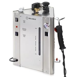 Reliable, i700B, 1200W, 12A, with Steam Boiler, 9 liter, 2.37 Gallons, 4.8 Bar, 70 PSI, Unlimited Hours Per Day, 8 Hours Continuous Use, Auto off, 14 Lbs, 110V, ITALY, Dental Steam Cleaner, for USA & Canada Only, i37 Steam Gun, Foot Pedal, Blow Down Valve, Quick Release Fittings,