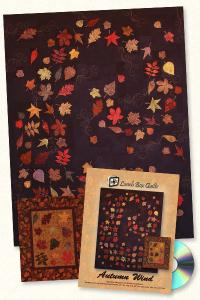 Lunch Box Quilts and Designs  93 3597 Autumn Wind  Applique Embroidery Design Pack on CD