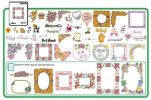 Brother No.74 SA374 Scrapbooking Embroidery Card, 47 Designs