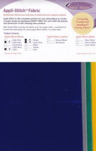 Floriani's Appli-Stitch Fabric R-V42 Velvet 4 PC Assortment 2