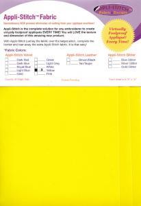 Floriani's Appli-Stitch Fabric R-V39 Velvet Yellow 3 Pack