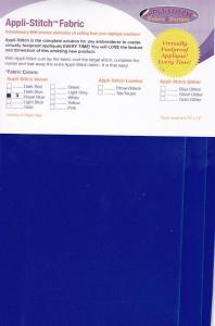 Floriani  R-V37 Appli-Stitch Fabric Velvet 3 Pack Royal Blue